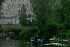Row boats in view of the Castle