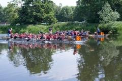 2 teams in dragon boats