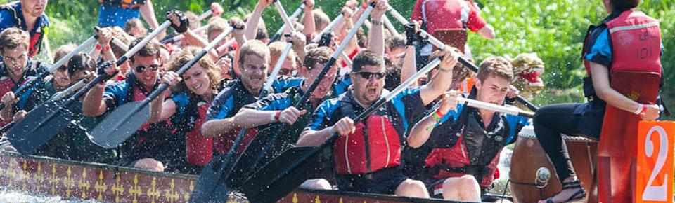 Dragon boat racing.